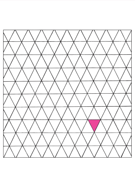 Pink Triangle 50 x 50 cm  Reprint of original illustration on sihl smooth matte paper S$ 285