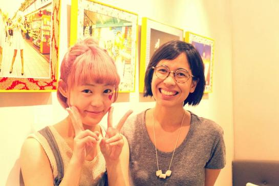 With the beautiful and brainy Kamiliah of Galerie Steph! Photo courtesy of Karin Shikata
