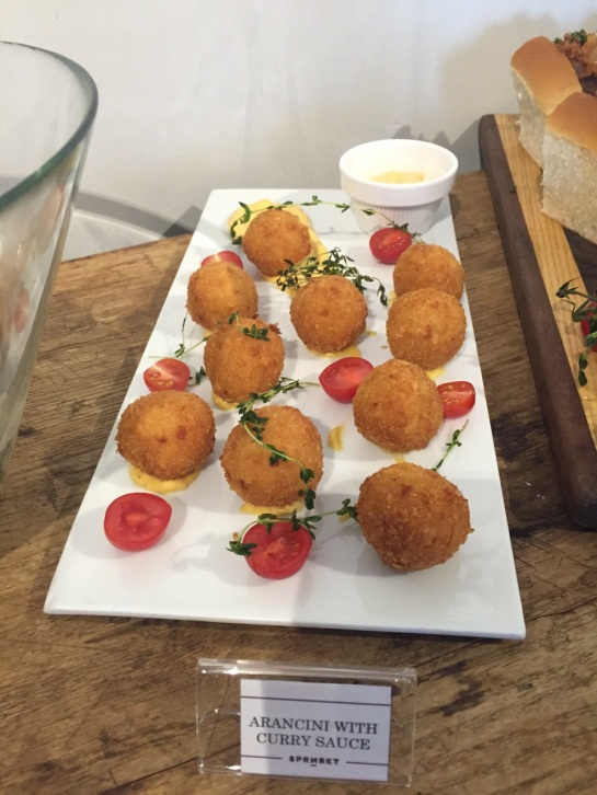 Arancini with Curry Mayo