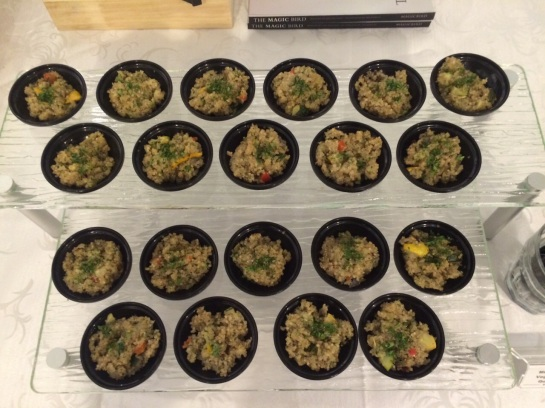Mixed Roasted Vegetables on Quinoa Cups