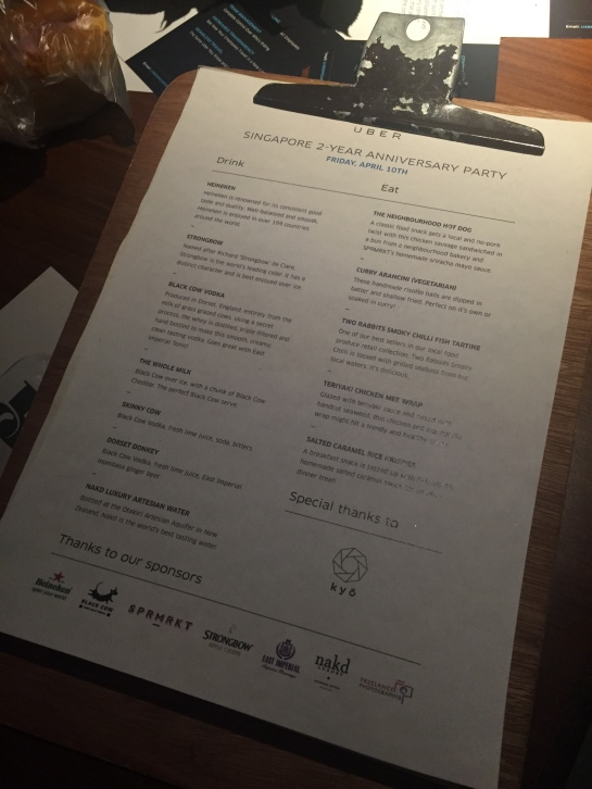 The full menu with so much love from UBER's partners & sponsors.