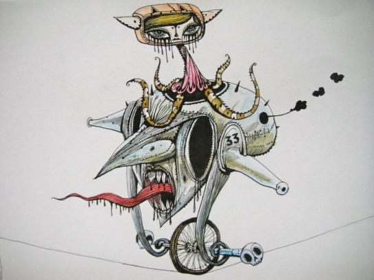 Khairul Azmir Shoib, Nocturna 1, 2014, ink, colour pencil and pencil on paper, 42 x 28 cm