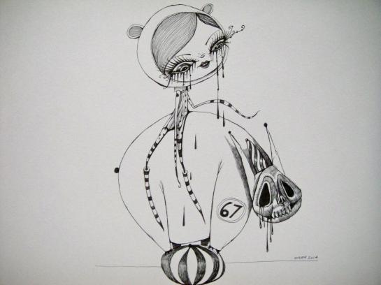 Khairul Azmir Shoib, Nocturna 10, 2014, ink on paper, 42 x 29 cm