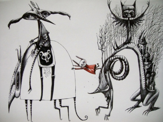 Khairul Azmir Shoib, Nocturna 3, 2012, ink and watercolour on paper, 42 x 29 cm