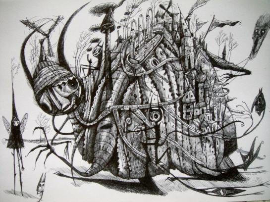 Khairul Azmir Shoib, Nocturna 4, 2012, ink on paper, 42 x 29 cm