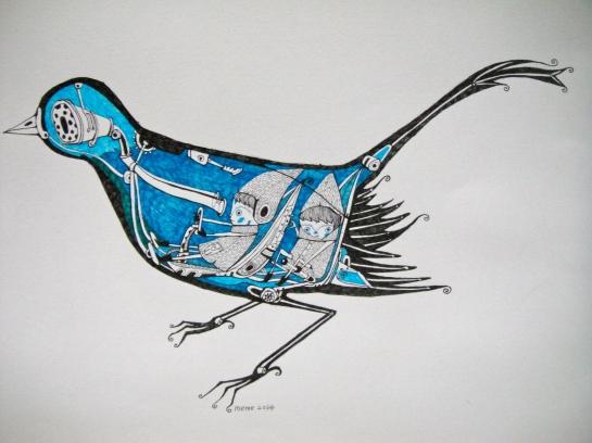 Khairul Azmir Shoib, Nocturna 5, 2014, ink on paper, 42 x 29 cm