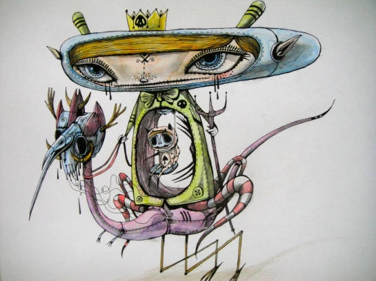 Khairul Azmir Shoib, Nocturna 8, 2014, watercolour, ink and colour pencil on paper, 42 x 29 cm