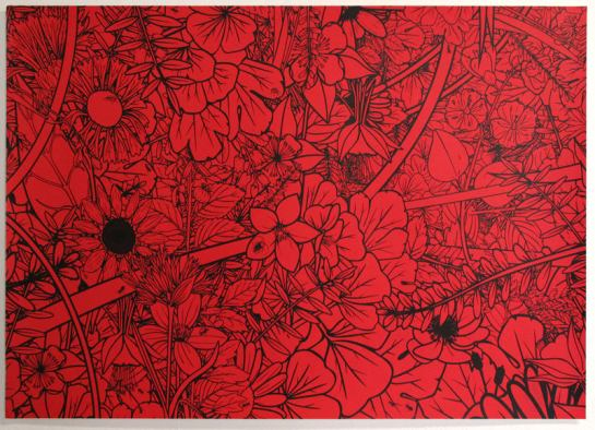 Mega-screen-print-red-black-jungle