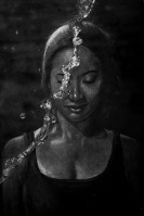 Self Portrait, Charcoal Drawing by Alessia Levonique