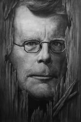 Stephen King, Charcoal Drawing by Liu Ling